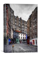 Looking up West Bow, Canvas Print