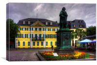 Central Post Office and Beethoven Memorial in Bonn, Canvas Print