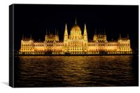 Hungarian Parliament Building, Canvas Print