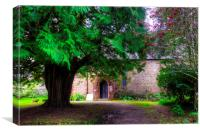 Church in the Trees, Canvas Print