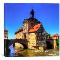 Bamberg Old Town Hall, Canvas Print