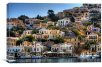 Yachts in Symi, Canvas Print