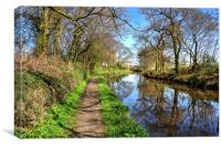 Walking along the Union Canal, Canvas Print