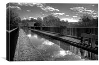 The Almond Aquaduct - B&W, Canvas Print