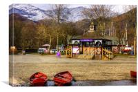 Boat Hire Booth, Canvas Print