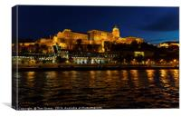 Buda Castle at Night, Canvas Print