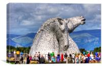 Come see the Kelpies, Canvas Print