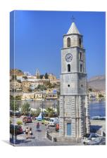 Roloi Clock Tower, Canvas Print