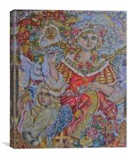 Angels of Christmas., Canvas Print
