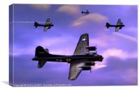 US Army Air Corps B17G Flying Fortress, Canvas Print