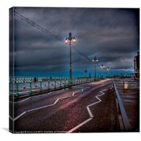 Wet Morning In Brighton, Canvas Print