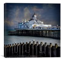 Eastbourne Breakwater and Pier, Canvas Print