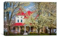 Springtime At The House On The Corner, Canvas Print
