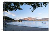Luss On Loch Lomond, Canvas Print