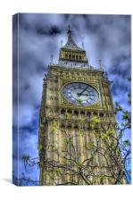Big Ben Through The Trees, Canvas Print