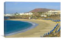 Playa Dorada Beach Lanzarote, Canvas Print
