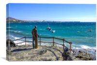 Statue in Playa Blanca, Canvas Print