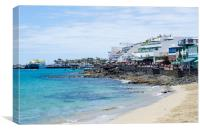Playa Blanca Lanzarote, Canvas Print