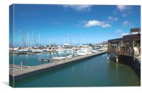 Playa Blanca Marina, Canvas Print