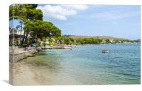 Puerto Pollensa in Summer, Canvas Print