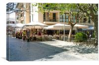 Bony's In Puerto Pollensa Square, Canvas Print