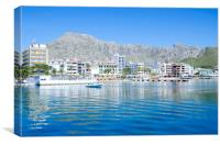 Puerto Pollensa From The Harbour, Canvas Print
