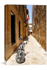 Motorcycle In Pollensa , Canvas Print