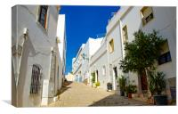 Albufeira Old Town Street, Canvas Print