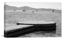 Puerto Pollensa Black And White, Canvas Print