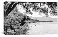 Paddleboard Puerto Pollensa, Canvas Print