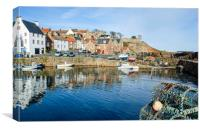 Crail Harbour Morning, Canvas Print