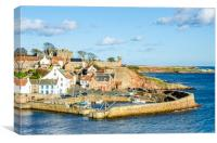 Crail Harbour Early Autumn, Canvas Print