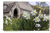 Spring In The Churchyard, Canvas Print