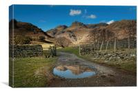 Pavey ark and harrison stickle , Canvas Print