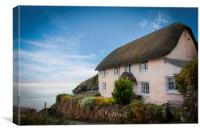 Cadgwith cove cottage, Canvas Print