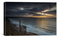 Sunset at St Agnes Cornwall, Canvas Print