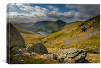 Lakes and mountains cumbria, Canvas Print