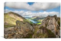 Buttermere viewed from Haystacks Lake District Cum, Canvas Print