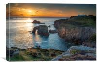 Lands end sunset Cornwall, Canvas Print