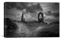 Old mine works on Bodmin moor , Canvas Print