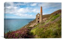 Cornwall tin mines , Canvas Print