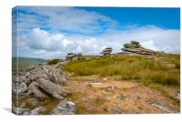 Stowes hill bodmin moor cornwall , Canvas Print
