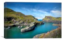 Boscastle harbour Cornwall  , Canvas Print