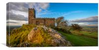 Brent Tor and St Michaels church, Canvas Print