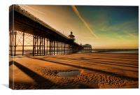 Shadows Of The Pier, Canvas Print