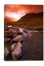Dawn at Llyn Idwal, Canvas Print