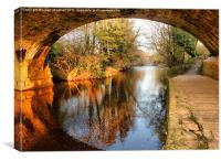 Under the Aquaduct., Canvas Print