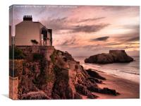 St Catherines Island Tenby, Canvas Print