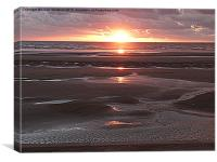 Sunset over the Sea., Canvas Print
