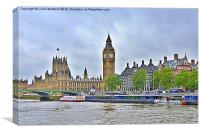 Westminster London., Canvas Print